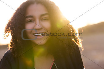 Beautiful Mixed Race African American Young Woman Teenager
