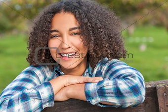Beautiful Mixed Race African American Girl Teenager