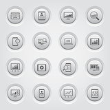 Grey Button Design Icon Set.