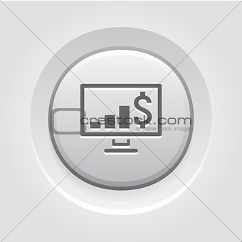 Business Chart on Desktop Icon
