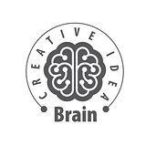 Vector brain logo