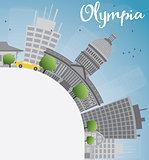 Olympia (Washington) Skyline with Grey Buildings