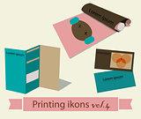 Print icons set4.