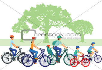 Cycling with children and family