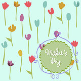 Mother's Day floral pattern with tulips