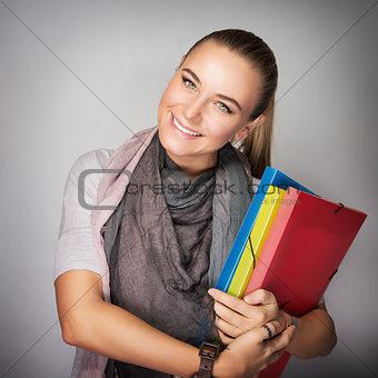 Beautiful schoolgirl portrait