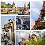Collage set of Paris images