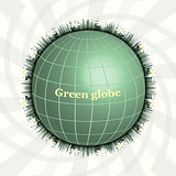 Green Planet. Green Globe. Eco design. Pure Land.