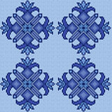Knitted Seamless floral Pattern in blue hues