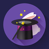 Rabbit and magic hat