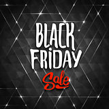 Black Friday sale background with triangles