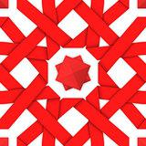 Red interwoven ribbons. Seamless pattern