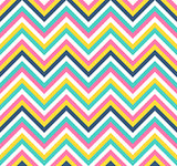 Seamless colorful chevron vector pattern