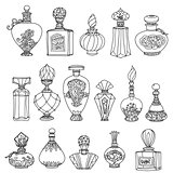 Black and white fantasy vintage perfumes.