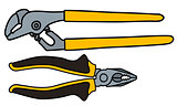 Wrench and combination pliers