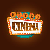 Retro theater cinema sign banner