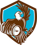 American Bald Eagle Beer Keg Crest Retro