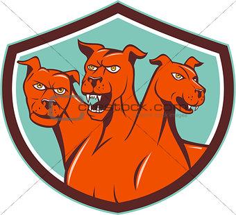Cerberus Hellhound Multi-headed Dog Crest Cartoon