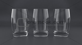 3D illustration of tumblers