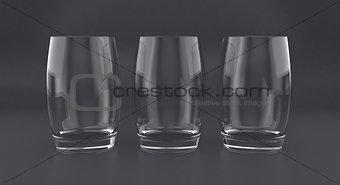 3D illustration of tumblers