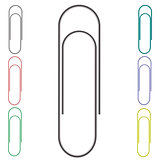 Set of Colorful Paper Clips