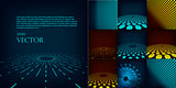 Set of ten abstract digital vector background template made with gradient and circles. Include