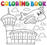 Coloring book airplane theme 3