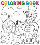 Coloring book circus ringmaster theme 2