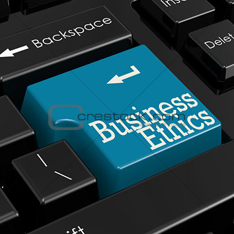Business ethics concept 3D Render
