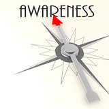 Compass with awareness word