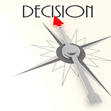 Compass with decision word
