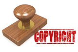 Copyright wooded seal stamp