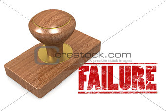 Failure wooded seal stamp