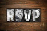 RSVP Concept Metal Letterpress Type