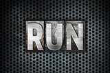 Run Concept Metal Letterpress Type