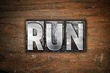 Run Concept Metal Letterpress Type