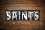 Saints Concept Metal Letterpress Type