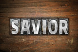 Savior Concept Metal Letterpress Type