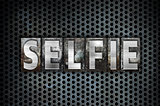 Selfie Concept Metal Letterpress Type
