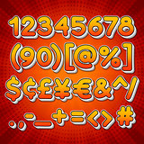 Comic Colorful Numbers
