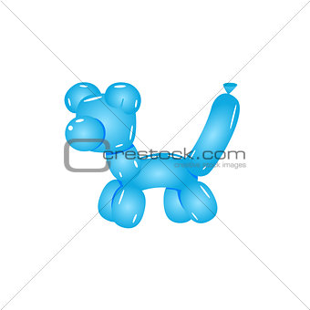 Blue Balloon Cat