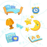 Child Bedroom Objects Set