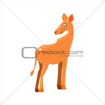 Smiling Antelope Flat Vector Illustration