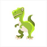 Green Tyrannosaurus Flat Vecto