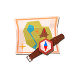 Camping Map And Compass
