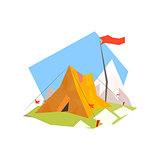 Mountain Camp With Tent