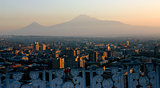 View On Mountain Ararat of Yerevan city