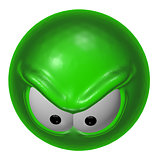 evil green smiley