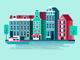 Amsterdam city design flat