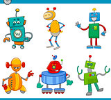 cartoon robot characters set